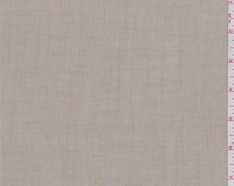 Pale Taupe Wool Blend, Fabric By The Yard