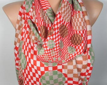 Geometric Scarf Red Scarf Shawl Polka Dots Scarf Fall Winter Scarf Women Fashion Accessories Christmas Gift For Her For Mom Women Scarf