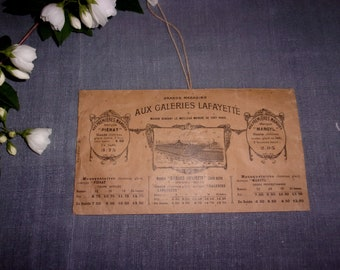 rare old envelope at Galeries Lafayette, catalog, advertising, 1900