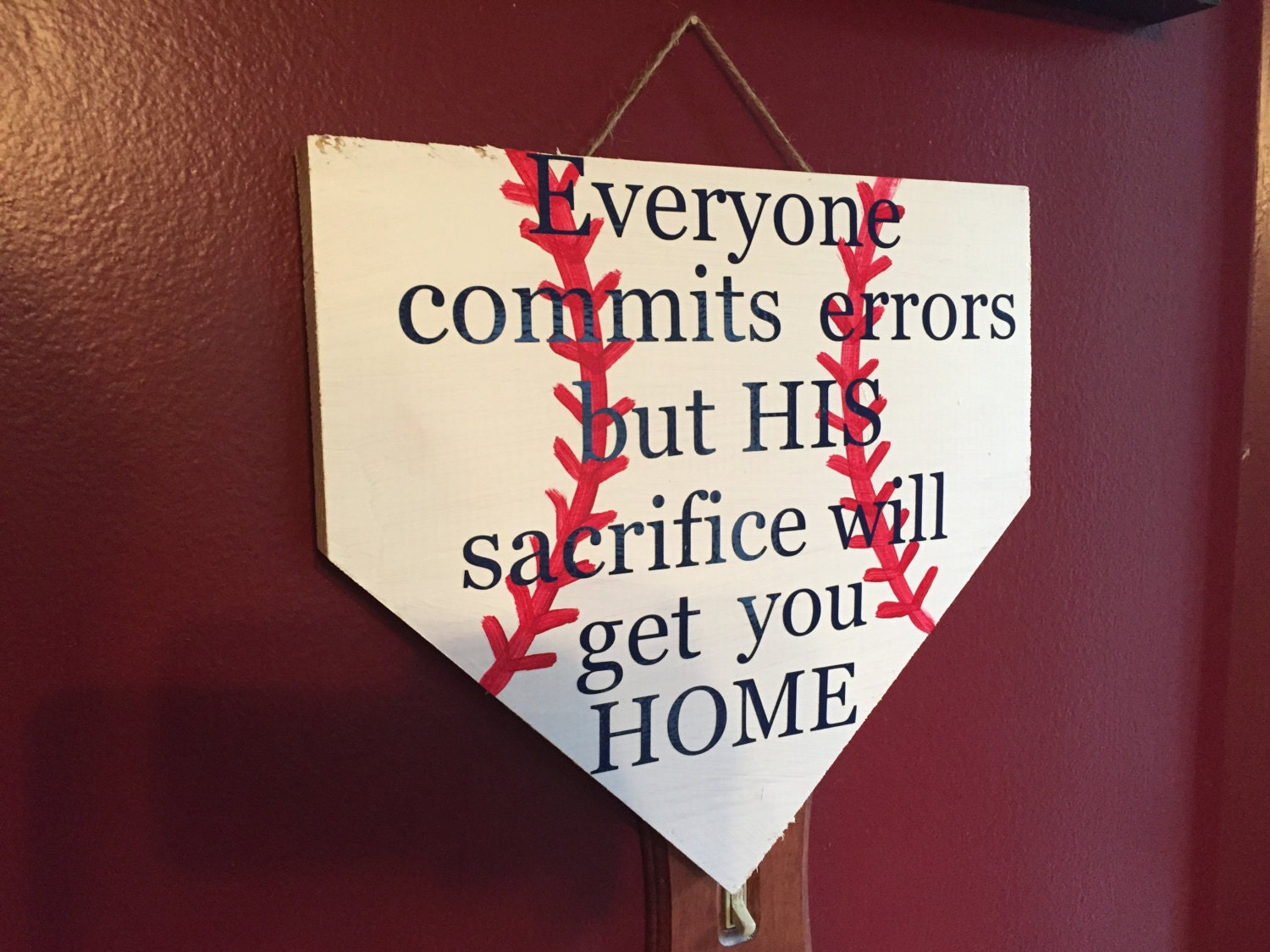 ON SALE Distressed Baseball Decor Signs