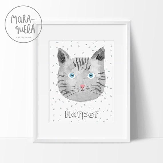 Gato Federico, con nombre personalizado / Cat with name