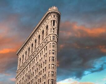 Flatiron Builidng, New York Photograph Nyc Skyscraper Photo Skyline Sunset Sunrise Manhattan Print Wall Art nyc37