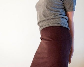 Brown corduroy skirt size 36