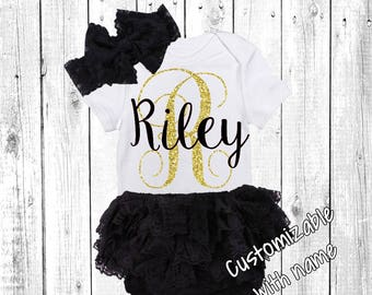 Hello World Newborn Outfit, Baby Girl, Baby Girl, Newborn Girl Outfit, Baby Girl Coming Home Outfit, Baby Girl Going Home Outfit, black