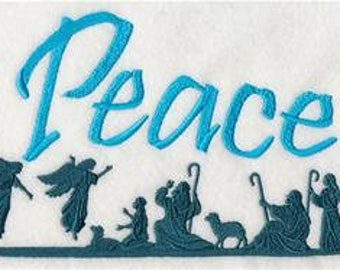Peace Towel - Christmas Towel - Embroidered Towel - Flour Sack Towel - Hand Towel - Bath Towel  - Apron