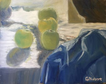 11 x 14 inch Unframed Still Life with Apples, 1991