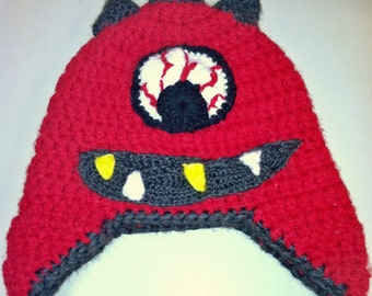 Cyclops Monster Hat -Crochet