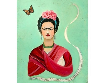 5- Postcard Set - Frida Kahlo and the Butterfly