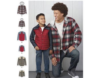 Simplicity 8475 - BOYS & MENS Shirt-Jacket