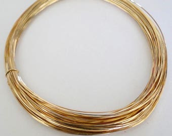 14k Gold Filled Square Soft Wire - 18, 20, 22, 24 gauge, Made in USA
