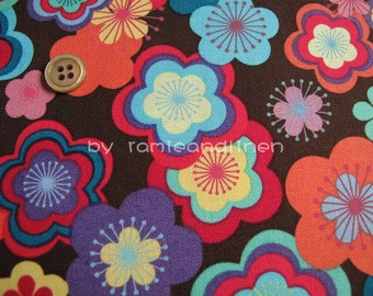 "flower garden cotton fabric, quilting fabric, patchwork fabric, Fat Quarter, 18"" by 25"""
