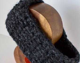 Charcoal Gray Headband // earwarmer