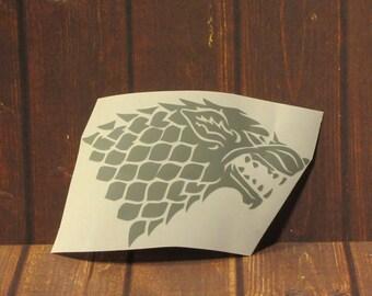 Game of Thrones | Stark Direwolf House Sigil | Vinyl Decal
