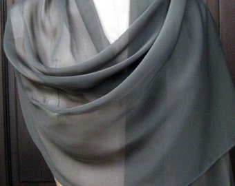 Dark Green Chiffon Shawl Wrap Scarf SALE!