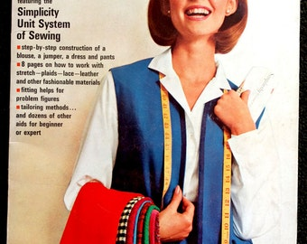 Vintage 1965 Simplicity Sewing Book - Learn to Sew!