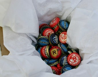 One Little Box With 100 Little Beer Bottle Caps ~ Crafting For Beer Lovers