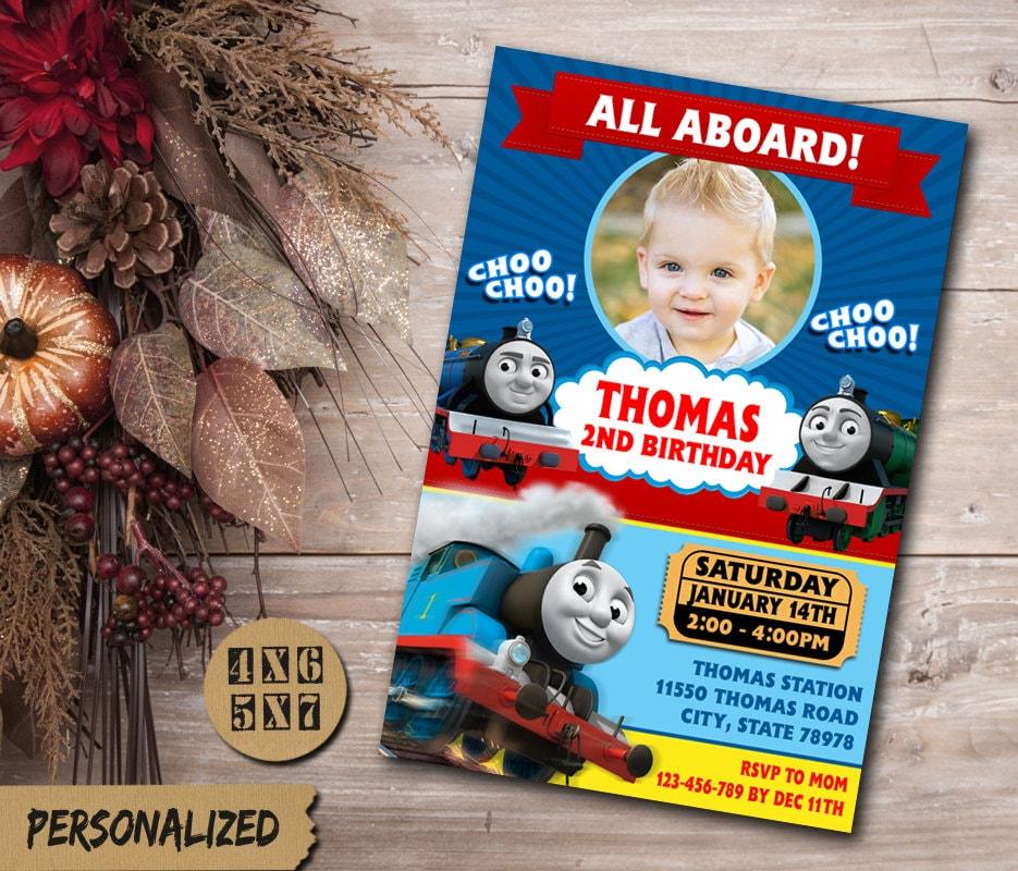 Thomas Train Birthday Invitation / Thomas Train Invitation