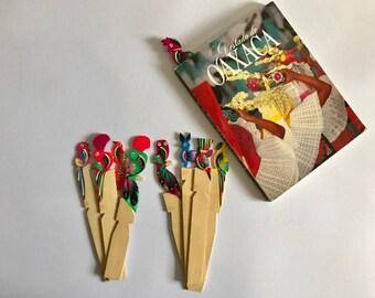Handmade Wooden Bookmark - Purple Bird