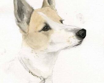 Custom Pet Painting - Pet Portrait - Commissioned Art - Watercolor Painting of pet