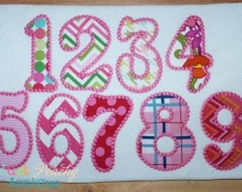 Candlewick Numbers Set Machine Embroidery Applique Design