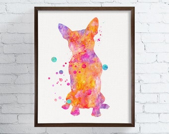 Watercolor Boston Terrier, Boston Terrier Art, Boston Terrier Print, Boston Terrier Poster, Dog Wall Decor, Dog Lover Gift, Kids Room Decor