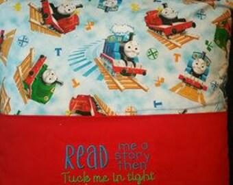 Thomas the Train Reading Pocket Pillow