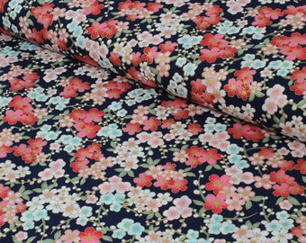 Floral Print Cotton Fabric, Quilting Fabric,Quilting Cotton Fabric,Patchwork Fabric,100% Cotton - Fat Quarter