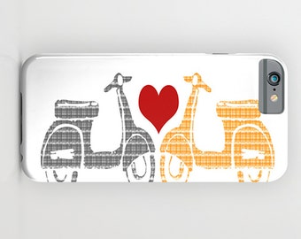 Vespa Scooter on Phone Case -  Vespa scooter lovers,   iPhone 6S, iPhone 6 Plus, Samsung Galaxy S6, iPhone 8