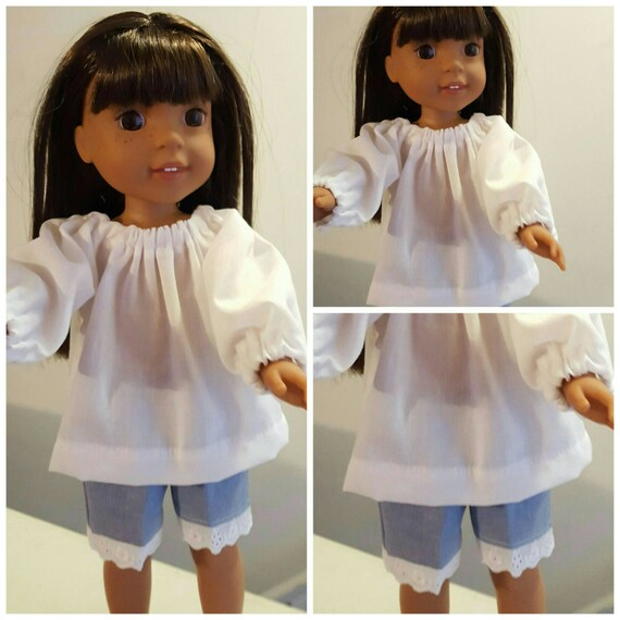 14 Inch Doll Shorts and Peasant Top