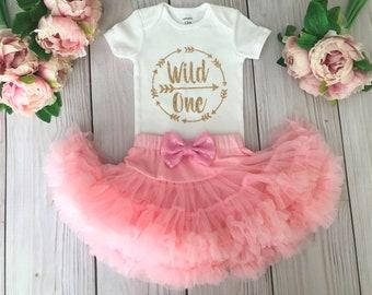 Wild One Birthday Outfit | Pink Birthday Tutu | Cake Smash Outfit Girl | Birthday Dress | Baby Girls Birthday Tutus | 1st Birthday Tutu