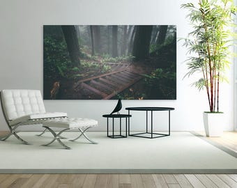 Stairs in the Forest Nature Comfy Print