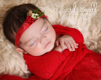 Dark Red RTS Stretchy Soft Newborn Knit Wraps 80 colors to choose from, photography prop newborn prop wrap