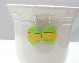 HD-hellgrün und gelb Osterei baumeln Ohrringe