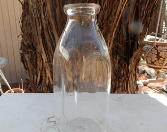 Vintage One Quart Milk Bottle  --  Quart Milk Bottle  --  One Quart  LIQ. - X 408  1 Rec Sealed MTC's  --  Clear Glass Quart Milk Bottle