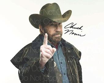Chuck Norris Signed Walker Texas Ranger 8X10 photo picture autograph RP 2