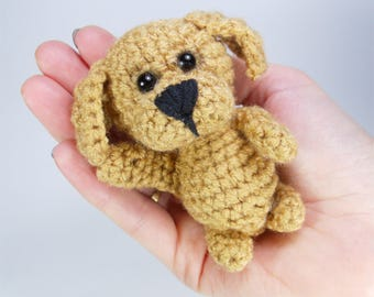 Cute dog Stuffed dog Crochet Miniature dog gift for dog lovers Teacher appreciation gift Mother gift from daughter Plush dog puppy Stuff toy