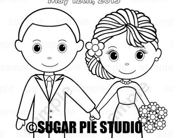 Wedding coloring book Favor Kids 4.25 x 5.5 PDF or JPEG