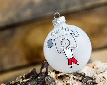 Weightlifter Christmas Ornament - Personalized for Free