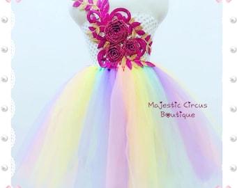 Tutu Dress flower Girls Dress Birthday Dress