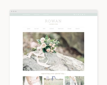 "Wordpress Theme - Wordpress Ecommerce Theme - Genesis Wordpress Website Theme - Photography Theme - ""Rowan"" Instant Digital Download"