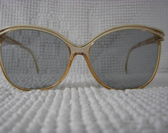 Vintage Ladies Cool Ray Sunglasses Champagne and Cream