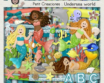"KIT SCRAPBOOKING DIGITAL ""Undersea World"""