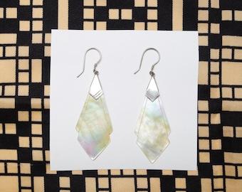 Art Deco pearl 1980s earrings