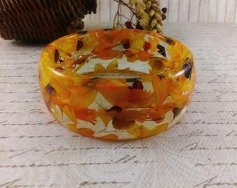 Yellow wedding bracelet Spring wedding jewelry Gold bracelet Rustic wedding Gift|For|Her Charm bracelet Nature jewelry Wife gift girlfriend