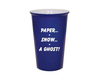 Friends Latte Mug - Paper Snow A Ghost - Laser Engraved - Your Choice Mug Color -  F.R.I.E.N.D.S TV Show - Joey - 022