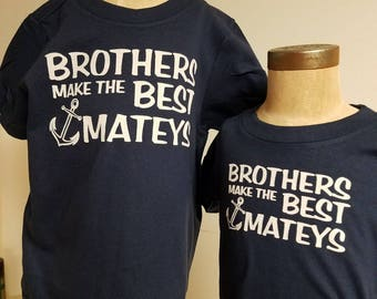 Brothers Nautical Tee Shirt - Infant, Toddler, Youth & Adult