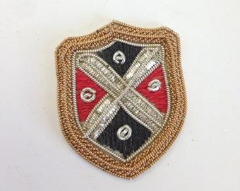 12pcs Vintage Gold Bullion Crest