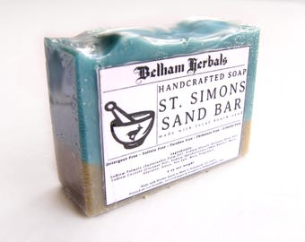 ST SIMONS SAND Bar | homemade soap, gifts for her, gift for him, homemade soaps, mens soap, Beach Wedding, Wholesale Soap, Wedding Favors