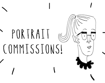 Make Yourself a Cartoon! - Personalised Portraits - Gifts, Decor, Drawing Commission, Ink