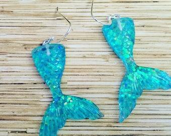 Acrylic Mermaid Tail Earrings